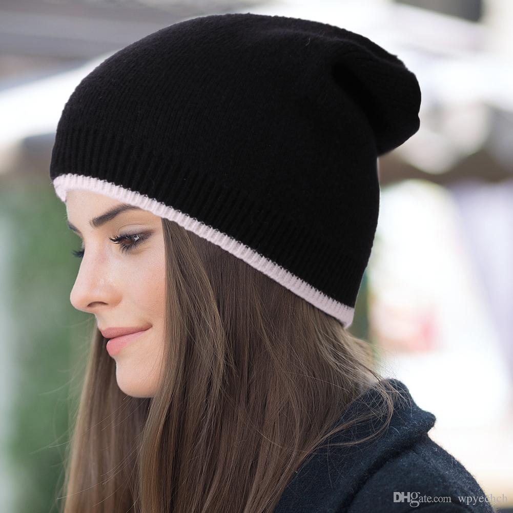 Casual Beanie Hat For Men Women Skullies Beanies Thin Bonnet Cap Solid  Color Hip Hop Lazy Bonnet Unisex Caps Thin Bonnets Female Trucker Hats  Winter Hats ... c8c22e25b95