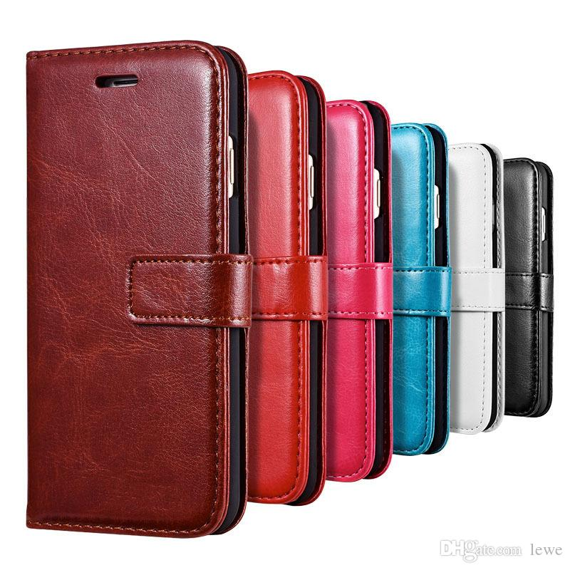 For iPhone X 8 7 6 5s 4s Retro pattern PU Leather case wallet cards cell phone case leather business style phone shell