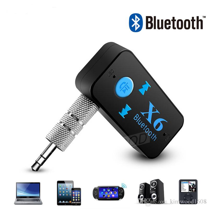 X6 Bluetooth Adapter 3-in-1 Wireless 4 0 USB Bluetooth Receiver AUX 3 5mm  Audio Jack TF Card Reader MIC Call Support Car Speaker