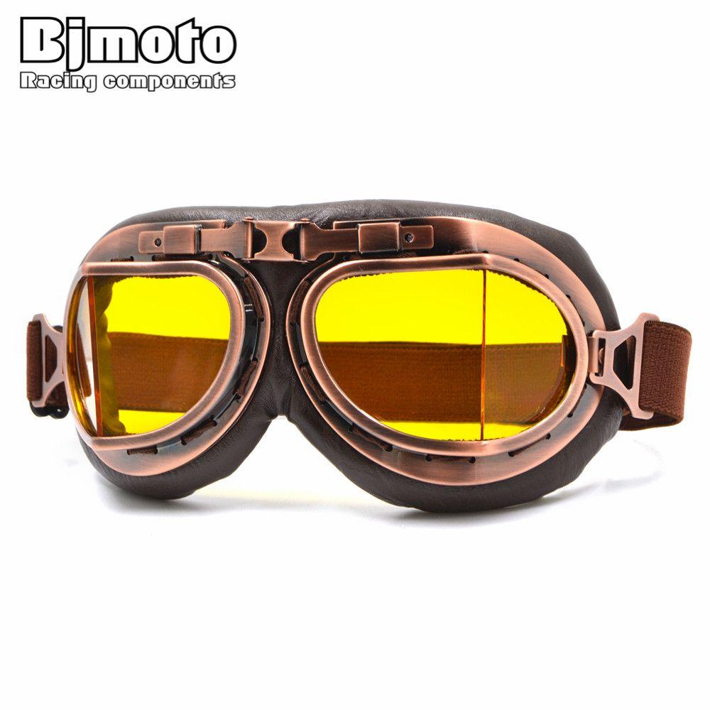 97c85b41c9 Compre BJMOTO NUEVA Llegada Segunda Guerra Mundial Gafas De Moto Vintage  Harley Estilo Piloto Moto Gafas Retro Jet Helmet Eyewear 5 Lentes De Color  A $21.01 ...