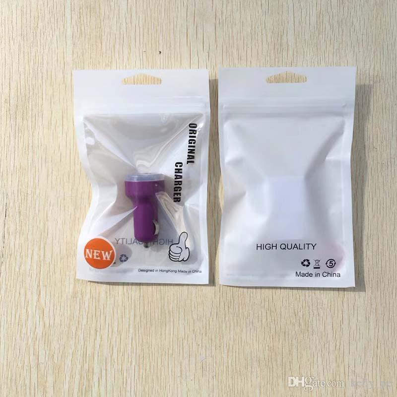 Zipper Plastic Retail Package Packing bag bags for Cell Phone Accessories Earphones Battery chargers Data Cable 11*18.5CM 10.5*15CM