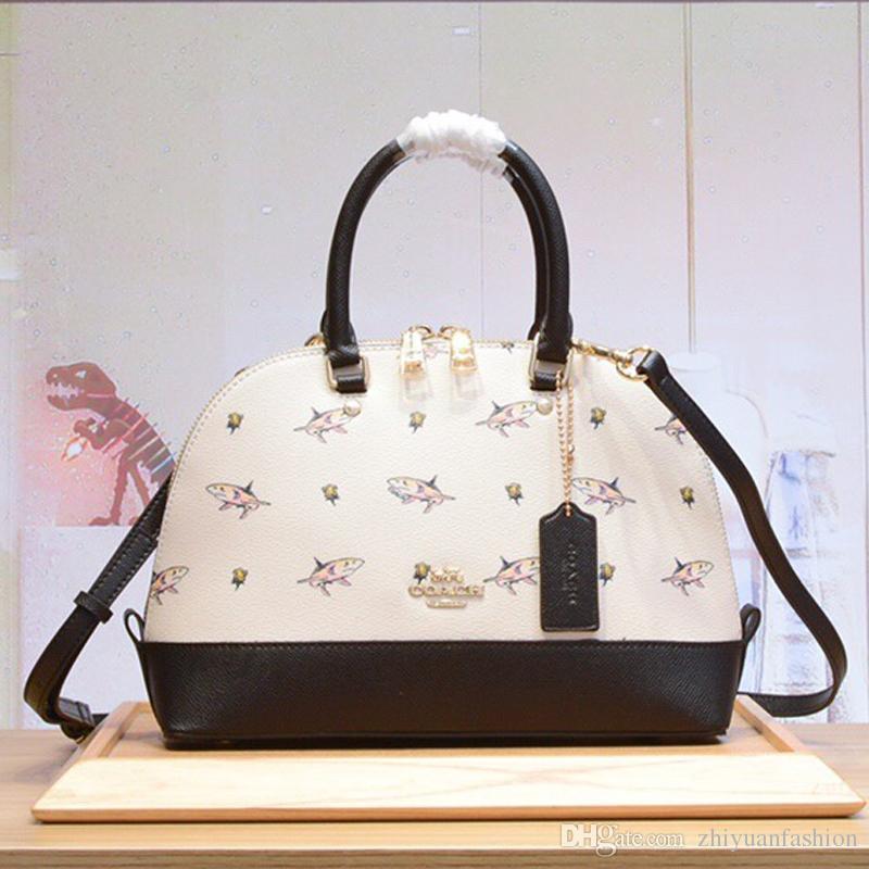 4c465723adb wholesale designer bags fashion women handbag shoulder bags sharks black  blue Genuine Leather bags with original full package