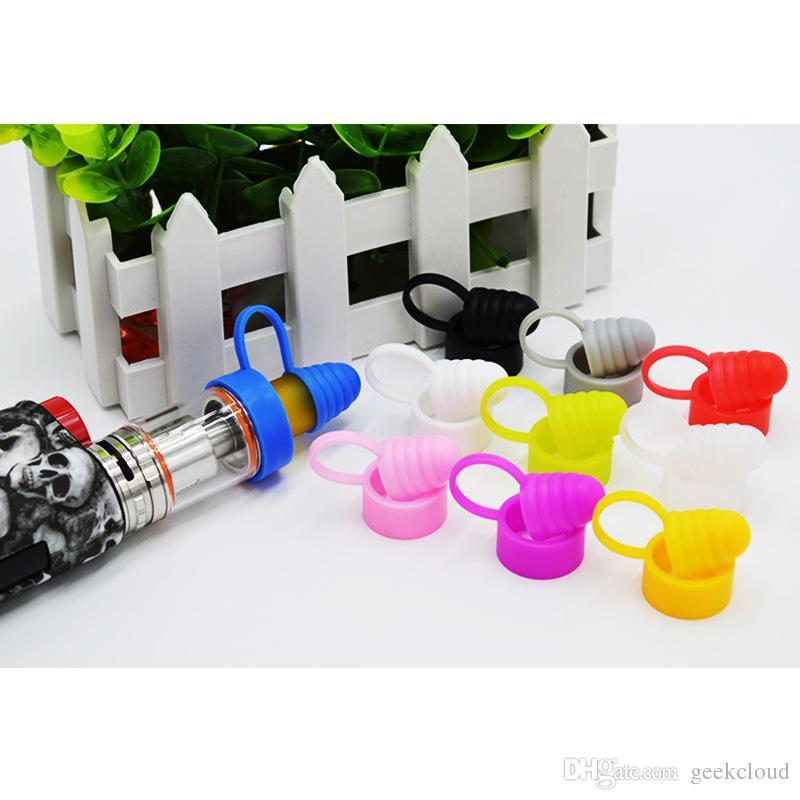Silikon-Staubkappe Vape-Band für E-Zigarette Zerstäuber RDA RTA Staubdicht Anti-Rutsch-Widerstand Caps E-Zigarette Drip Tipp Abdeckung DHL-frei