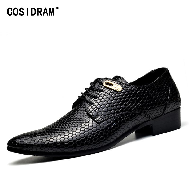 British Snake Skin Leather Shoes Men Luxury Brand Classical Elegant Dress Male Footwear Comfortable Wedding Work Oxfords For Men Formal Shoes Men's Shoes