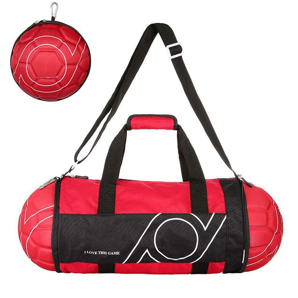 58ca81823a Unisex Football Shape Gym Sport Duffel Bag Travel Vacation Home ...