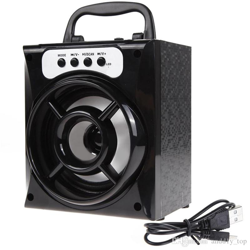 LED Mobile Multimedia Altoparlante portatile Bluetooth senza fili con USB TF AUX Radio FM MS-132BT Super Bass Android