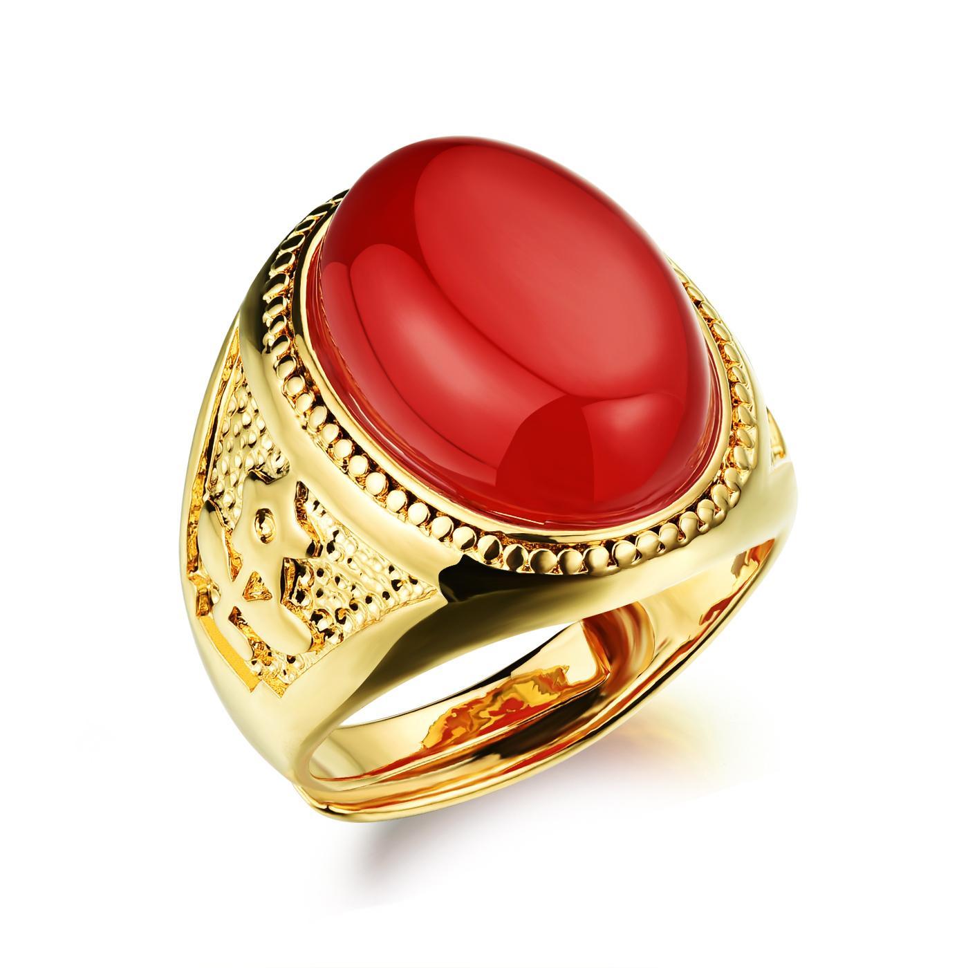 Grosshandel Schwarz Rot Grun Stein Manner Ring Gold Farbe Neue