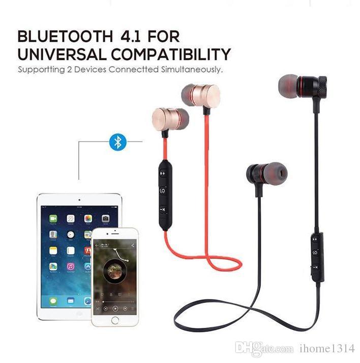 Cuffie Mp3 Hot Xt 6 Magnete Bluetooth Cuffie Magnetiche Senza Fili Sport  Vivavoce Auricolari Stereo Cuffie Bt 4.1 Con Microfono Iphone 7 Samsung  Note 8 ... 26e5a834d92b