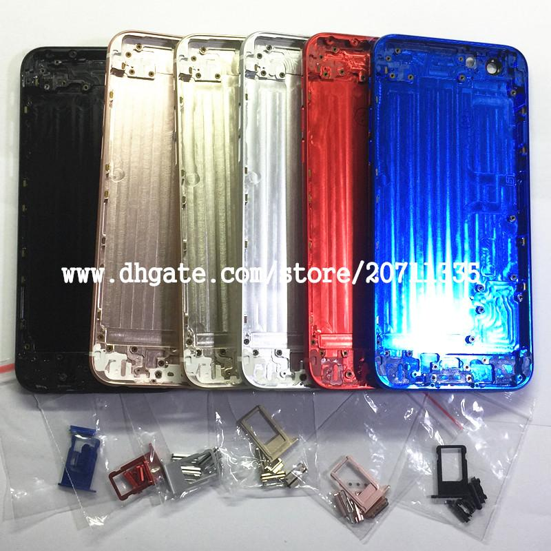 YENI iPhone 6 S Gibi 8 Stil 8 ARTı Arka Arka Kapak Pil Konut Kapı Şasi Orta Çerçeve