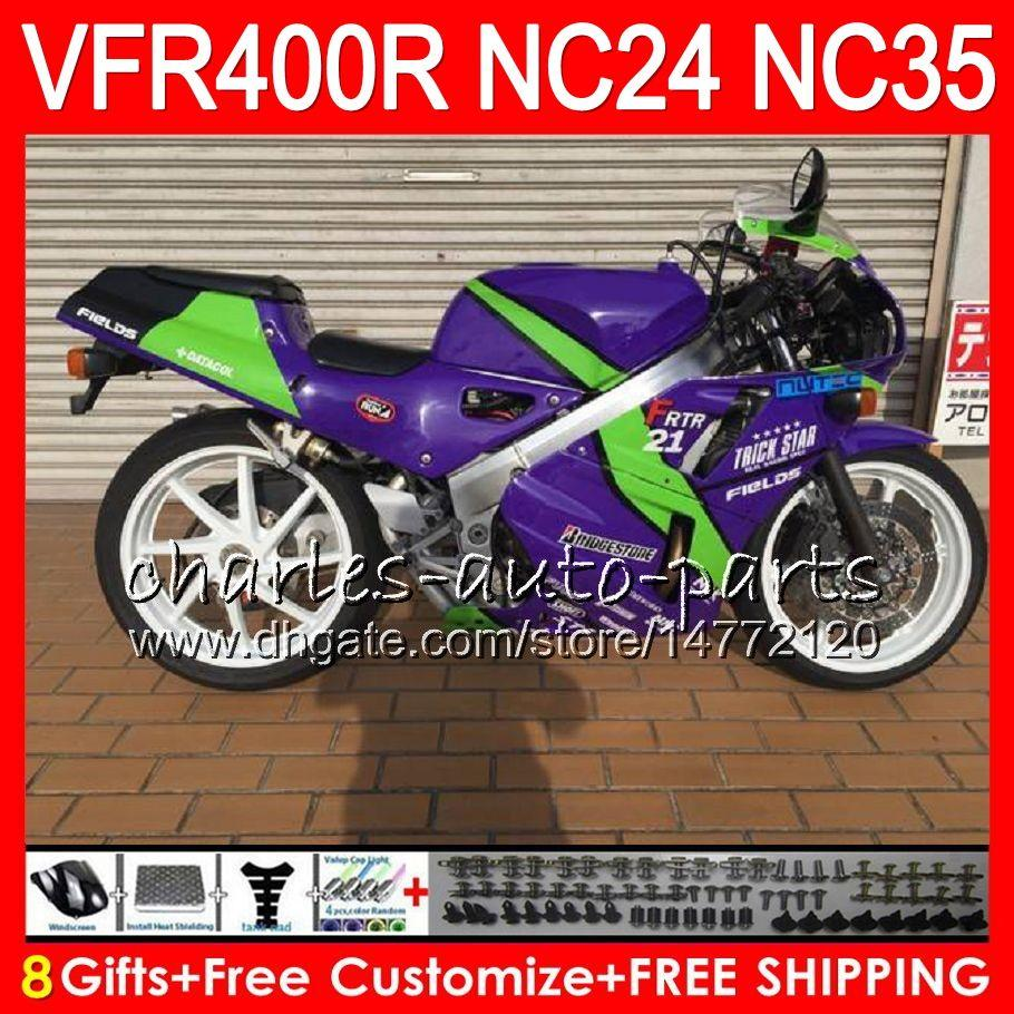 RVF400R For HONDA VFR400 R NC24 V4 VFR400R 87 88 94 95 96 81HM31 RVF VFR 400 R NC35 VFR 400R 1987 1988 1994 1995 1996 Hot Purple Fairings