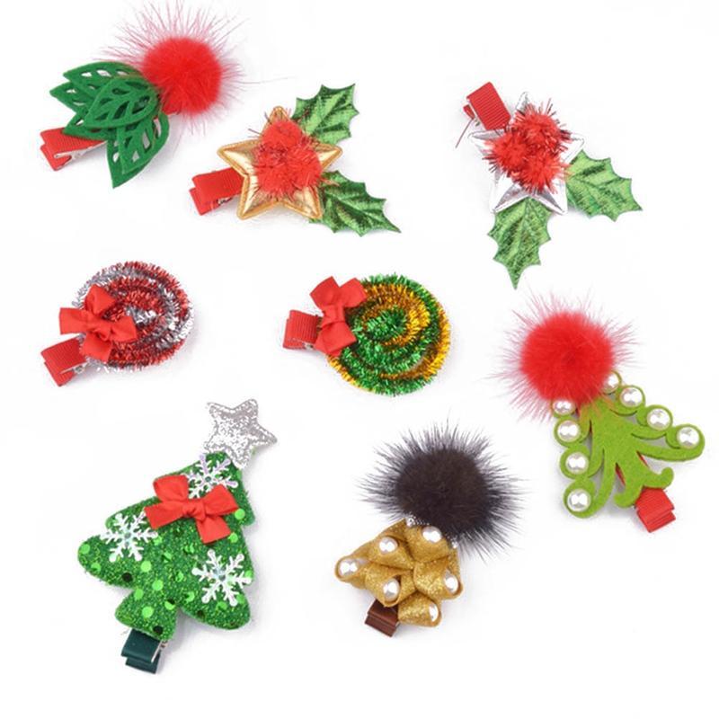 Christmas Hair Clips.Hot Fashion Christmas Hair Clips For Girls Santa Claus Snowman Xmas Hairpins Barrettes Gifts For Kids Children Hair Accessories