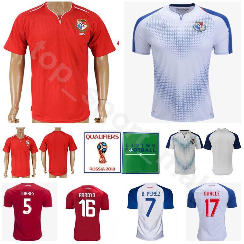 6037562b9a444 Copa Mundial 2018 Panamá Jersey Fútbol De Los Hombres 5 Roman Torres 7 Blas  Perez Camiseta De Fútbol Kits Uniformes 18 Luis Tejada Nombre Personalizado  ...