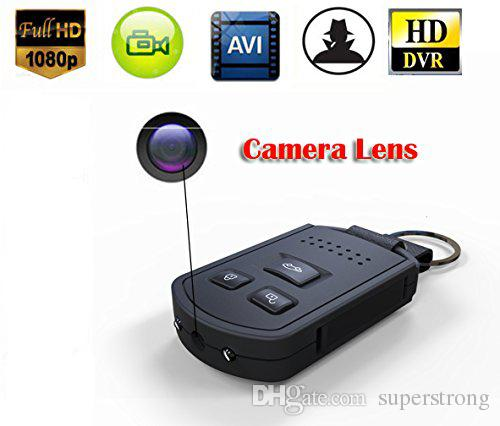 HD 1920 x 1080P mini Car Keychain Camera DV with Night Vision Motion Detection Portable Covert Nanny Car Key Camera DVR Black
