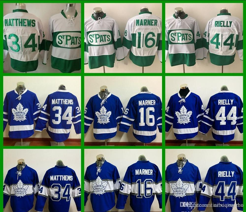 2016 Toronto Maple Leafs St. Pats Jerseys 34 Auston Matthews 44 Morgan  Rielly 16 Mitchell Marner Retro Green St. Paddy S Day Hockey Jer UK 2019  From ... 26deccb1c