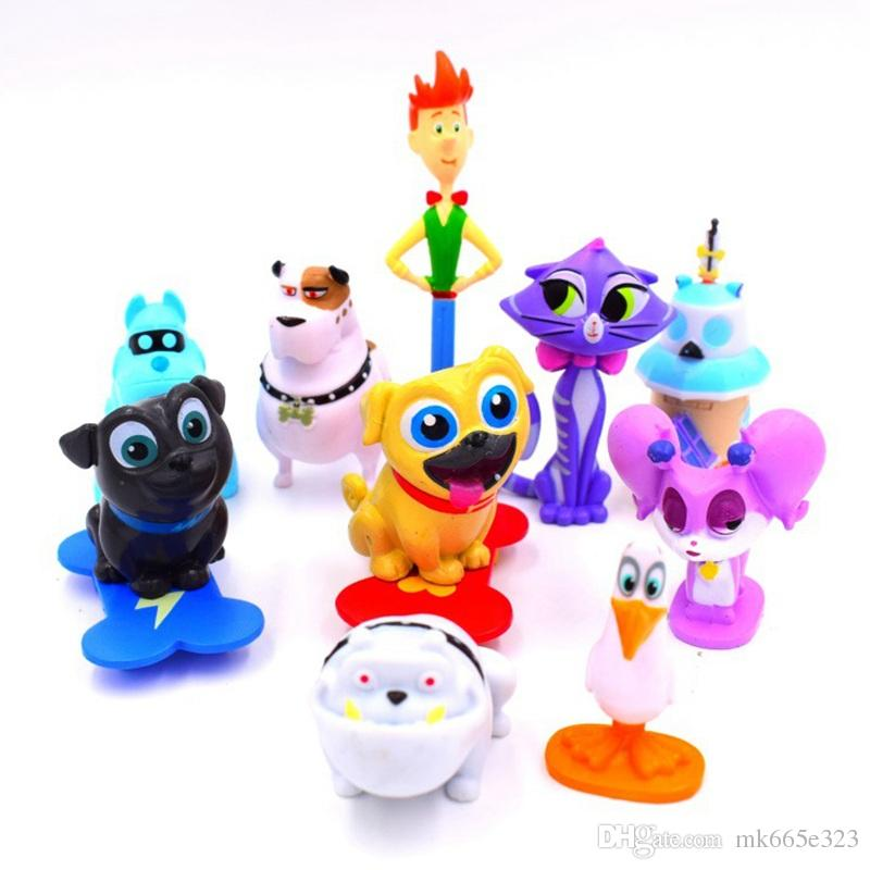 2019 Puppy Dog Pals Action Figures Doll 3 7 Cm Pvc Collectable Model