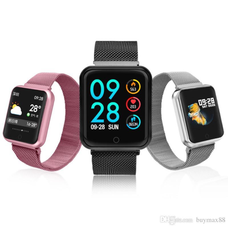 5db95195c4e p68 smart watch blood pressure oxygen heart rate monitor watch steps .