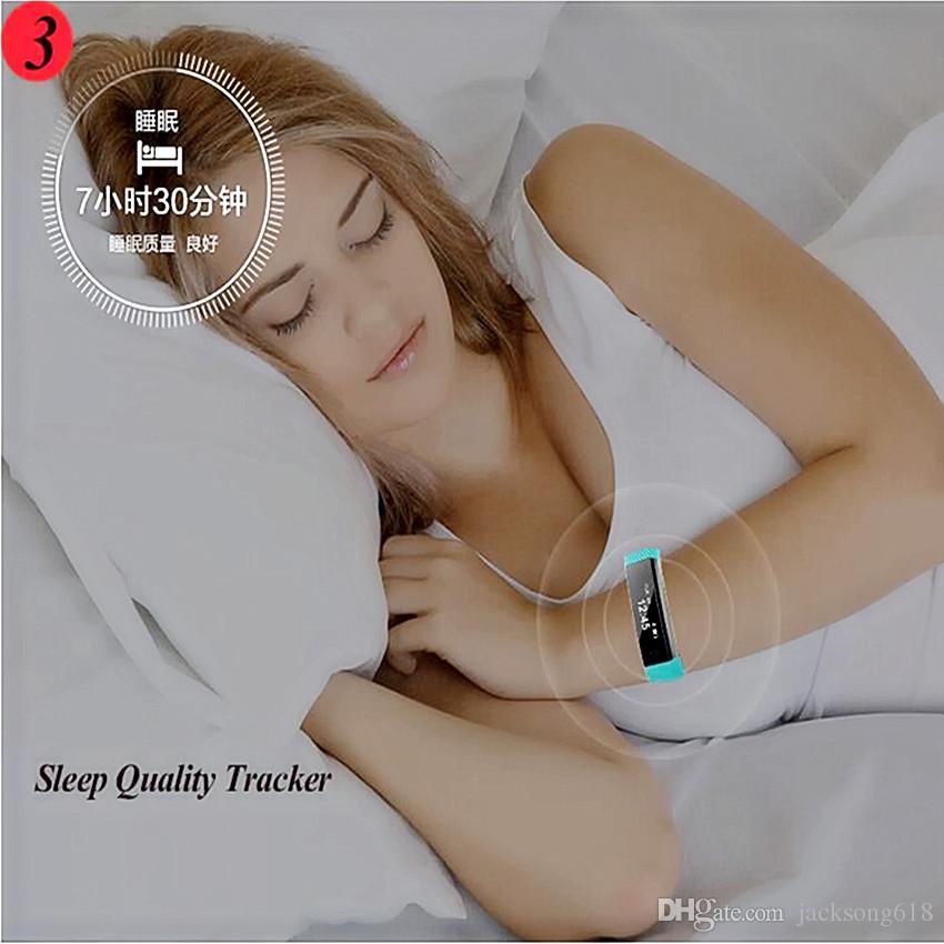 Smartband ID115 Smart Armband Fitness Tracker Schrittzähler Aktivität Monitor Band Vibration Armband pk FitBits Mi Band 2 ID107 30 teile / los
