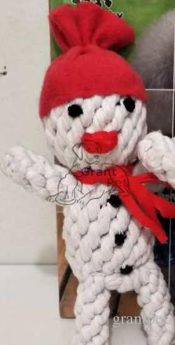 snow man christmas gift Cotton Chewing Ball snow man top sales GrantpetBone  Knot Indestructible Dog Toys for Aggressive Chewers9022#