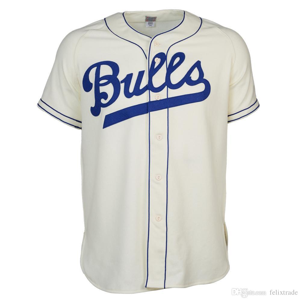 new style c2f71 b81cd Durham Bulls 1947 Home Jersey Double Stiched Name & Number & Logos Baseball  Jersey BegieFor Men Women Youth