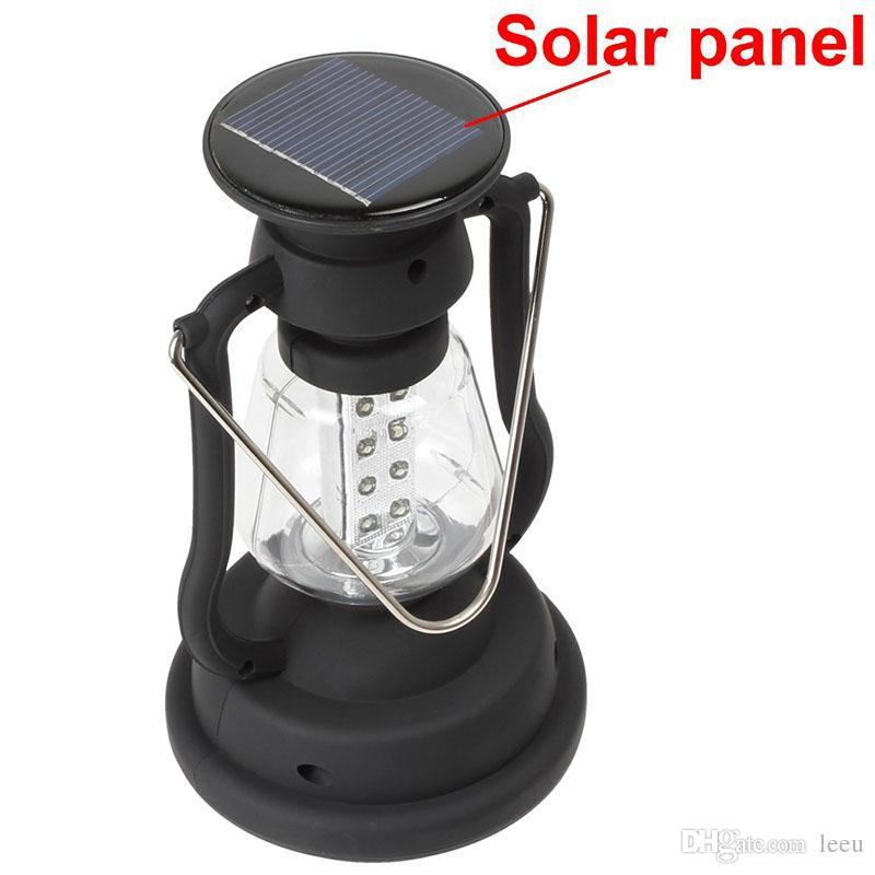 Linterna que acampa de la lámpara del dínamo de la manivela del panel solar de 16 LEDs brillante estupendo