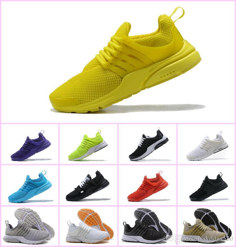 competitive price 196cf 0a2fa Compre Ventas 2018 TOP Prestos 5 Running Men Women Zapatos Para Barato  Presto Air Ultra BR QS Amarillo Negro White Essential Basketball Footing  Sneakers A ...