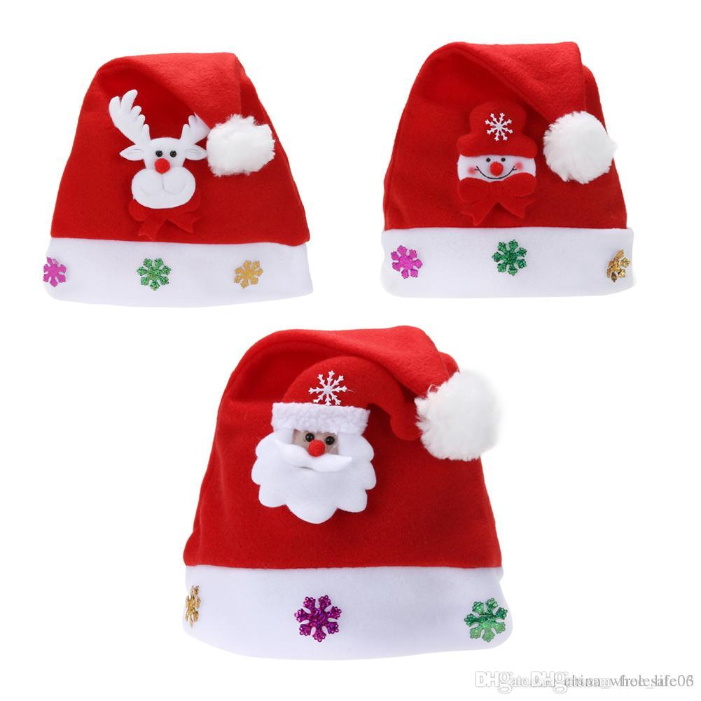 ef3654f9c0694 Christmas Hats New Years Party Santa Hat Red And White Cap Christmas Hat For  Santa Claus Costume Christmas Decoration Christmas Decorations And  Ornaments ...