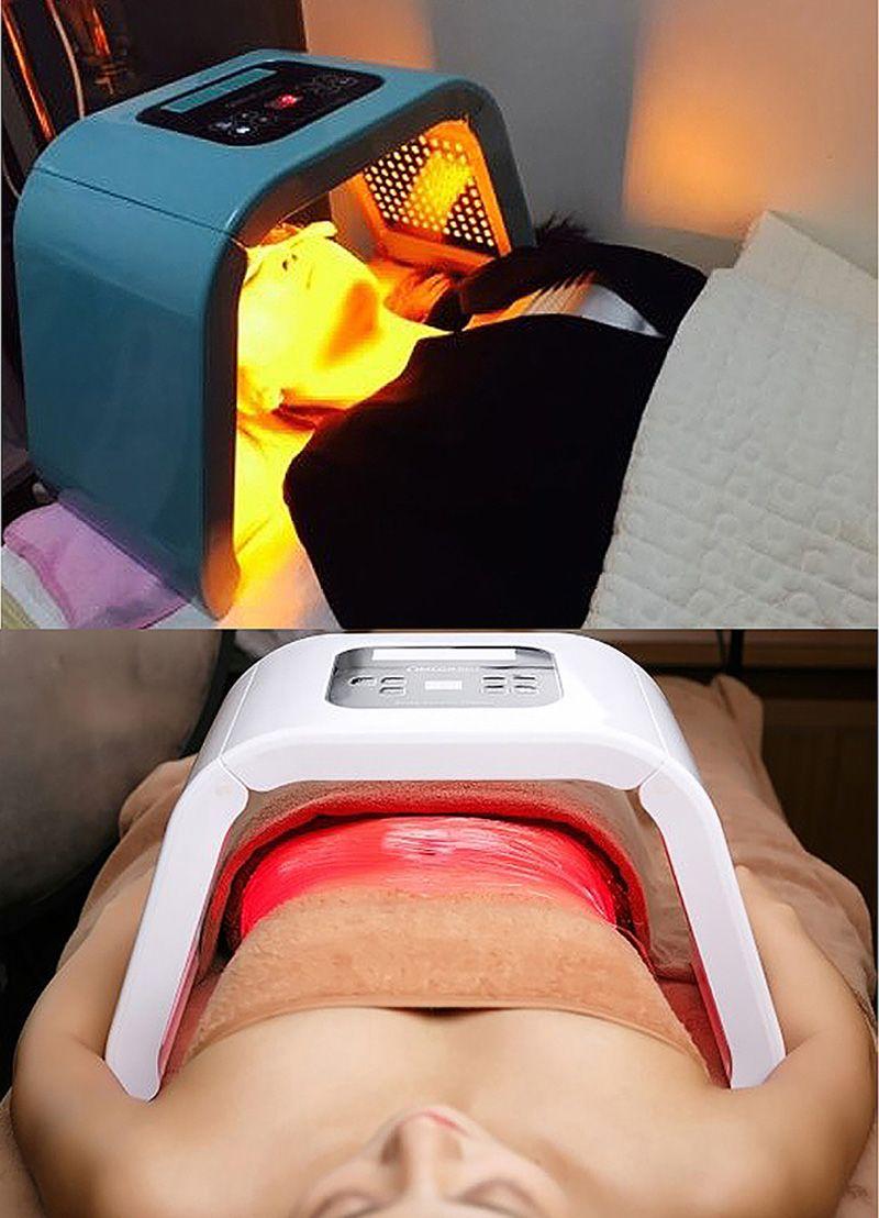 OMEGA Light LED Photon Therapy Machine Facial LED Mask PDT Light For Skin Rejuvenation Acne Removal salon SPA Device