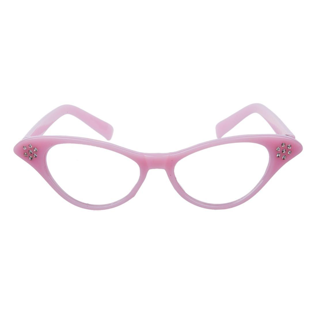 fd43ab0405 2019 Pink 50 s Grease Ladies Rock And Roll Fancy Dress Glasses From  Exyingtao