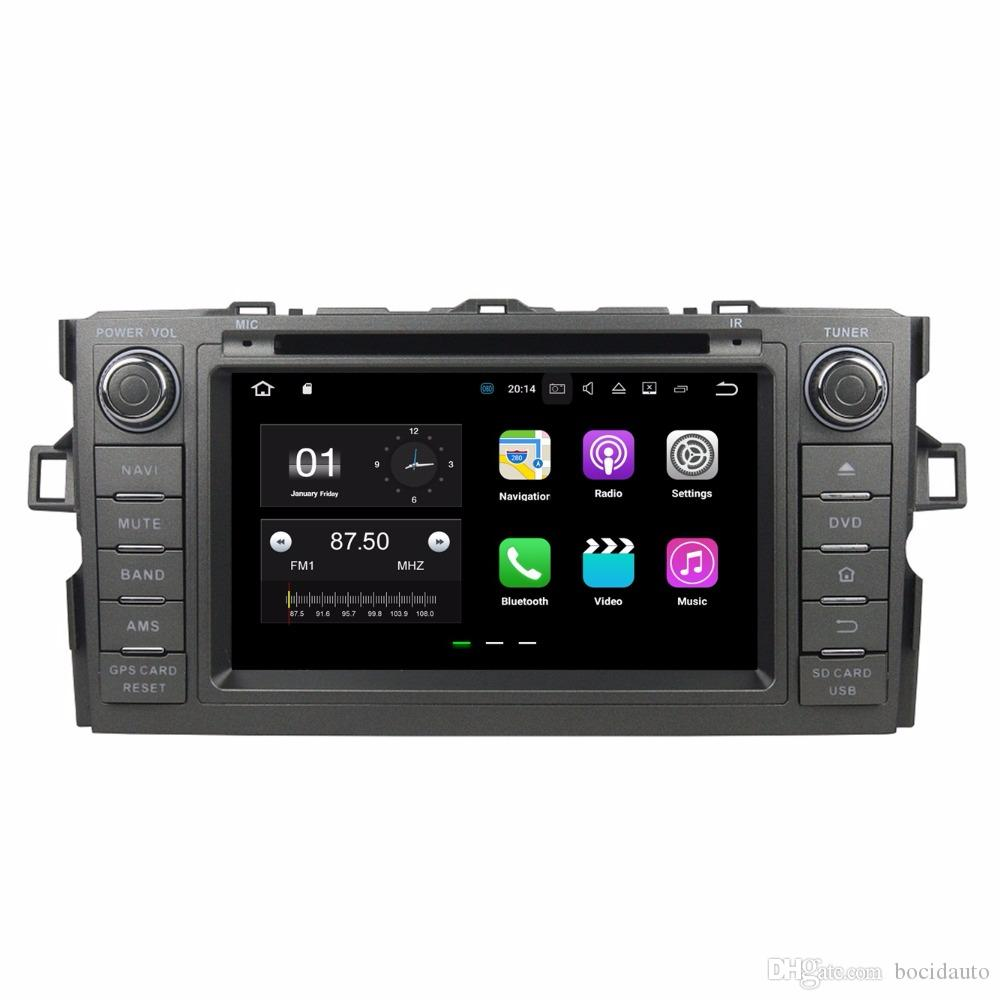 "2GB RAM Quad Core 8"" Android 7.1 Car DVD Car Audio DVD Player for Toyota Auris 2010-2014 With Radio GPS WIFI Bluetooth 16GB ROM USB DVR"