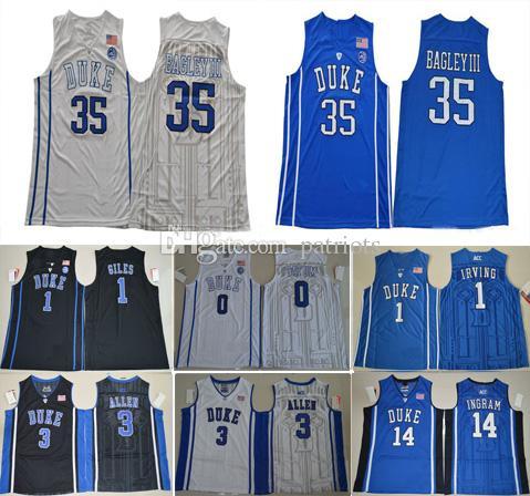 97ecb22f220 Großhandel Mens Duke Blau Teufel 1 Kyrie Irving 35 Marvin Bagley Iii 3  Grayson Allen 14 Brandon Ingram 0 Jayson Tatum College Basketball Trikots  Von ...