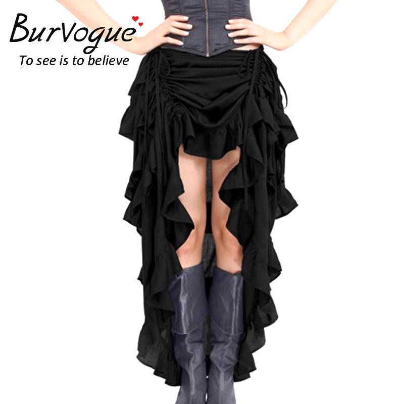 Acheter Jupes Steampunk Femmes Gothique Élastique Burvogue 3c4qAj5RL