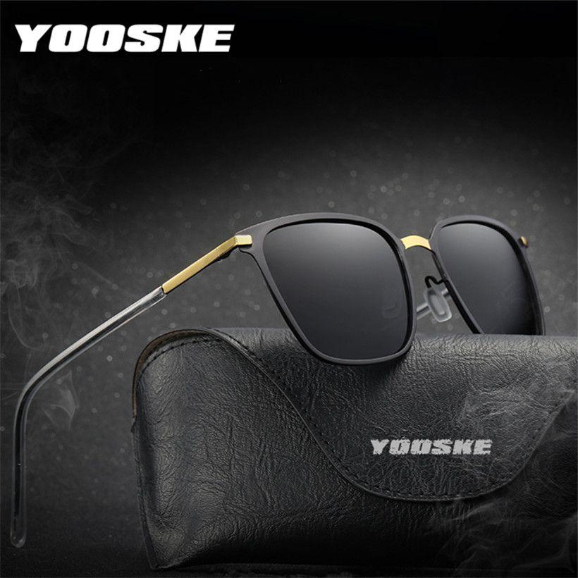 d29eeb611bff1 Compre Gafas De Sol Polarizadas YOOSKE 2018 Hombres Famoso Diseñador De La  Marca Gafas De Sol De Conducción Al Aire Libre Gafas De Marco Ultraligero  ...