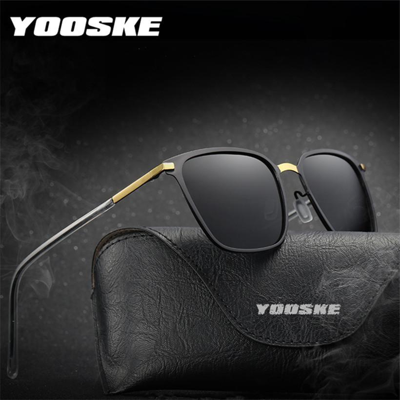 bc81111ff6 YOOSKE Polarized Sunglasses 2018 Men Famous Brand Designer Outdoor Driving  Sun Glasses Male Ultra Light Frame Glasses Circle Sunglasses Glass Frames  From ...