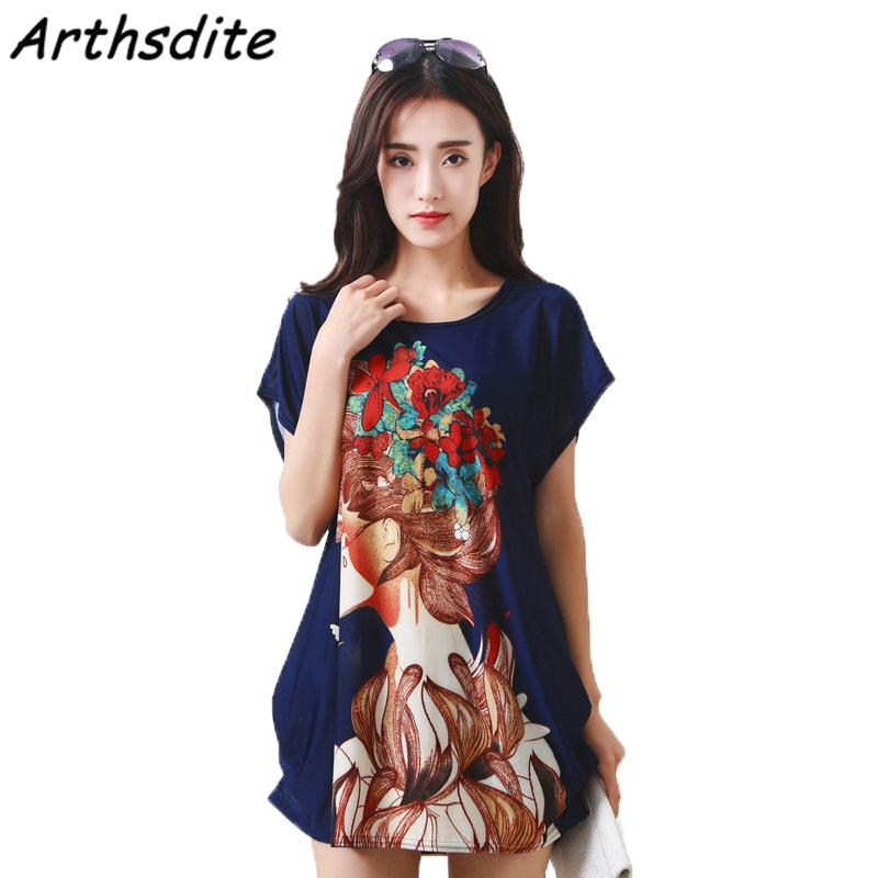 2018 Arthsdite Ice Silk Dress Vintage Summer Dress Plus Size Casual