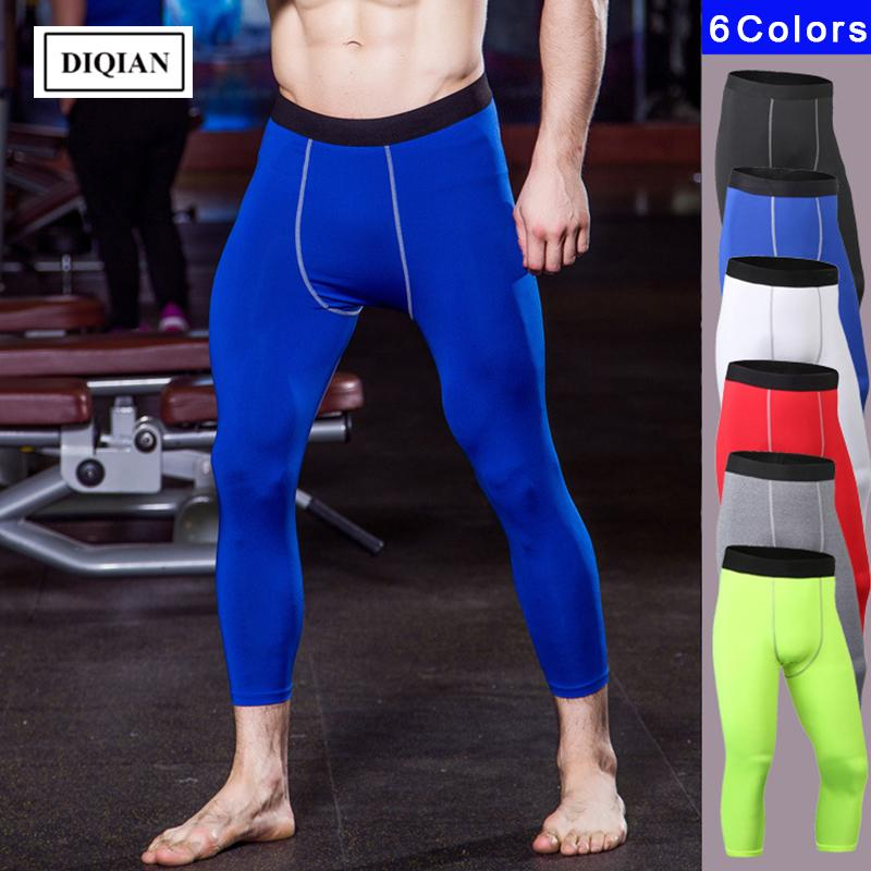 000151179e6 DIQIAN Bodybuilding Men Running Cropped Trousers Gym Quick-drying ...