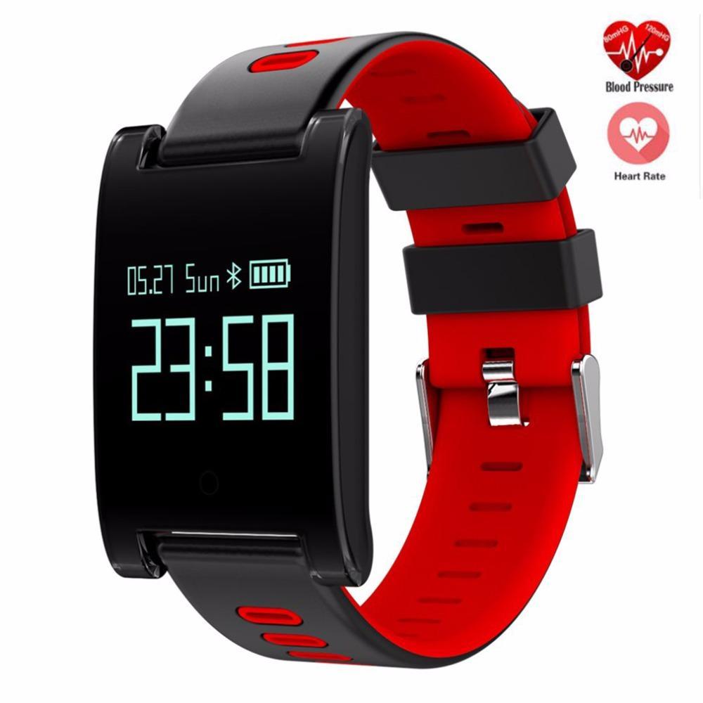 e1f4b5dfca09 DM68 PLUS Pulsera inteligente Presión arterial Monitor de ritmo cardíaco  Bluetooth Fitness Pulsera Recordatorio de llamada para Android iOS PK X9 ...