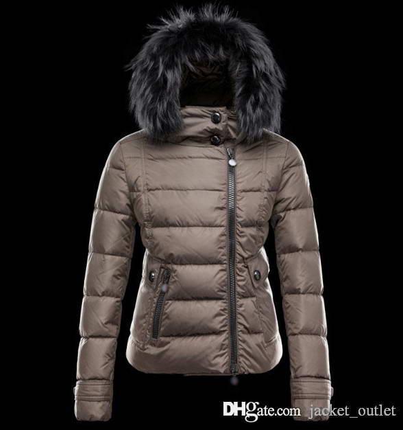 save off deca0 26880 Kaufen Sie Winter Daunenjacke mit Kapuze Damen mit Waschbärpelz kalt Mäntel  Damen Markendesigner Outwear Outdoor Parkas billig verkaufen