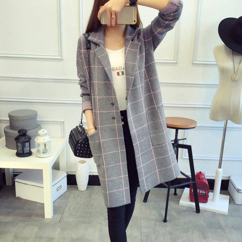 High Brand Design Women Winter Coat Warm Plaid Padded Coat Winter Fashion Long Trench Female Outerwear Winter Jacket 3 Colors W1