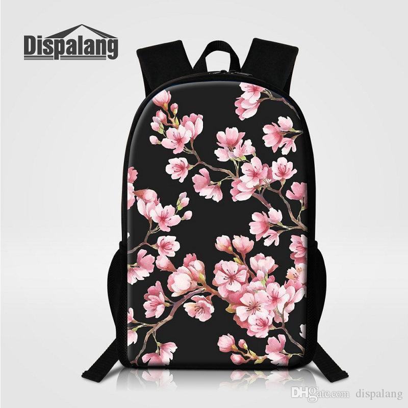 Cherry Blossoms Flower Women Backpack For Teenage Girls Children School Bags  Mochila Feminina Bolsos Mujer Marca Kids Big Bagpacks Rucksack Jute Bags ... 053c8700ae0ec