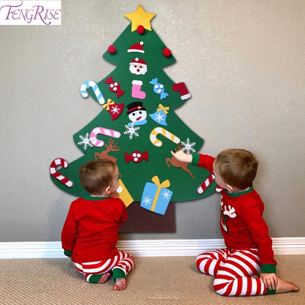 Fengrise Kids Diy Felt Christmas Tree Decorations Xmas Hanging