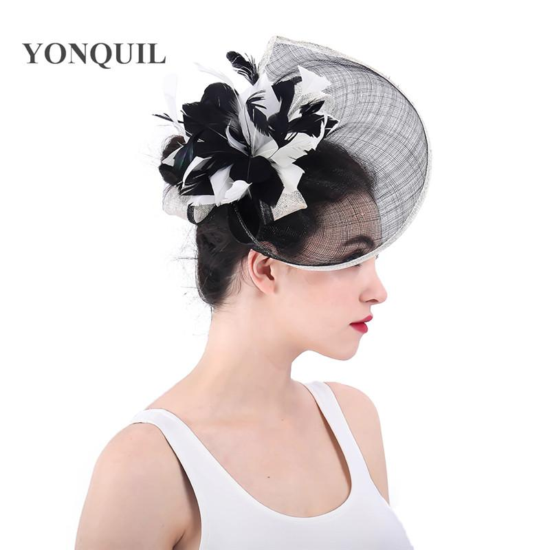 74bc11bb4509c Party Fascinator Hats For Women Summer Feather Flower Hat Pillbox Formal  Cocktail Church Wedding Dress Chapeau Fedoras SYF321 Pink Party Hat Pink  Party Hats ...