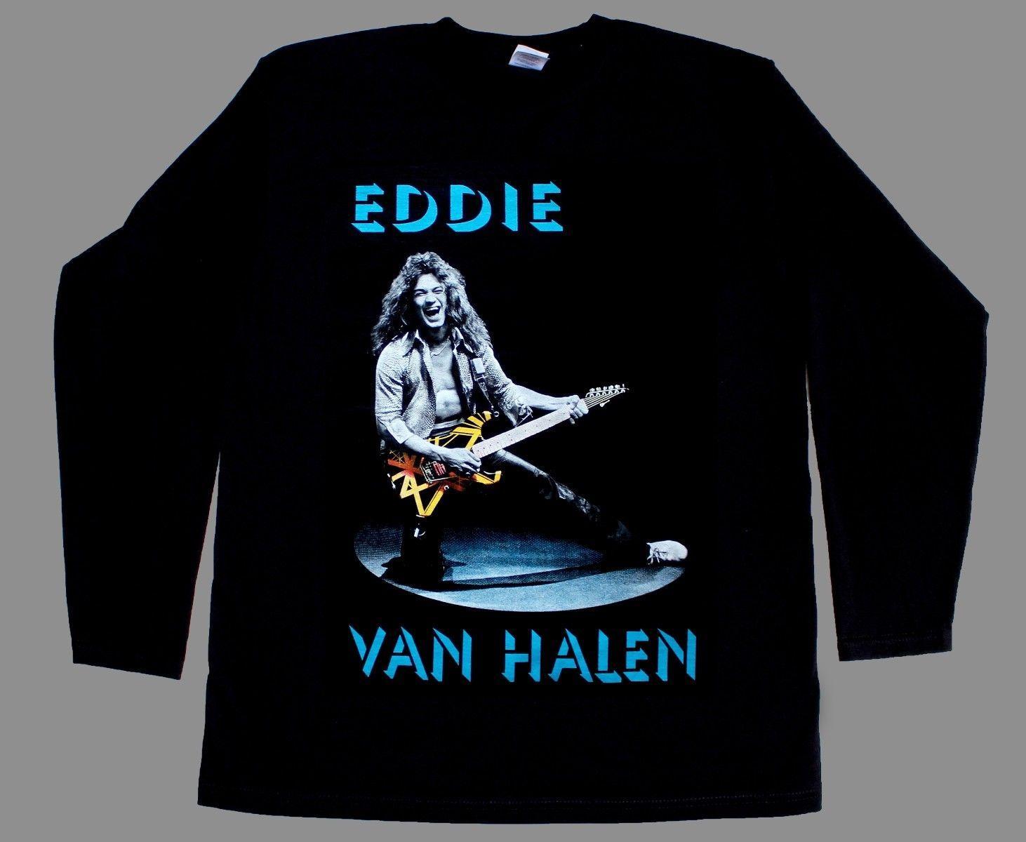 a594acaaf EDDIE VAN HALEN GUITAR NEW RARE LONG SLEEVE T SHIRT S XXL Tee T Good T Shirt  Design From Banwanyue9, $15.44| DHgate.Com