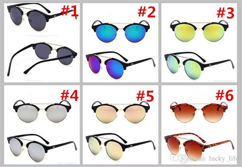 2018 gafas de sol de alta calidad de los hombres del precio bajo gafas de sol de las señoras color de diseñador de marca 6 gafas de buena calidad al por mayor