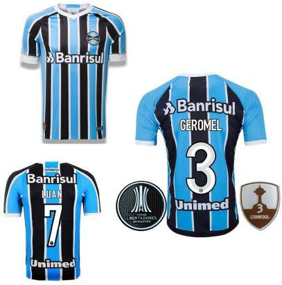 2018 2019 Camisetas De Fútbol Parche Gremio Brasil Jersey De Fútbol 18 19  Brasil Gremio MILLER LUAN DOUGLAS Camiseta De Fútbol Brasileña Por ... 71579d9f42abd