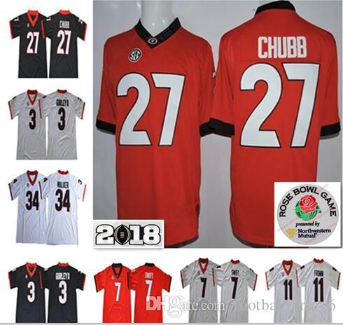 Nick Chubb Jerseys 34 Mens Georgia Bulldogs College Football UGA Jake Fromm  11 Nick Chubb D Andre Swift Todd Gurley II Herchel Walker Black Wholesale  Cheap ... acbd9c2a4