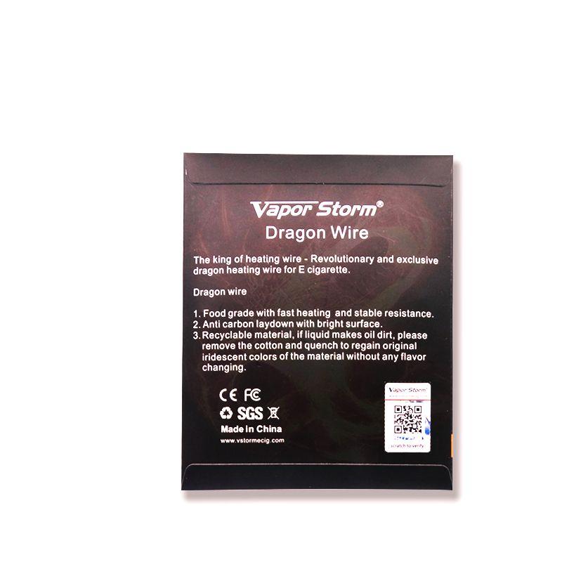 15 Feet Vapor Storm Dragon Wire 22GA/24GA/26GA Anti Carbon Laydown With Bright Surface Heating Wires For RDA RTA RDTA Coil DIY E Cigarette