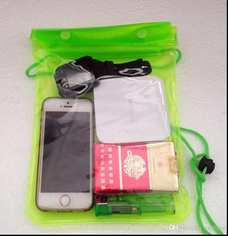 Phone Waterproof Pouch Case For iphone 6 6plus Universal Clear Water Proof Bag Underwater Cover Water Resistant Size 17.5*28.5cm