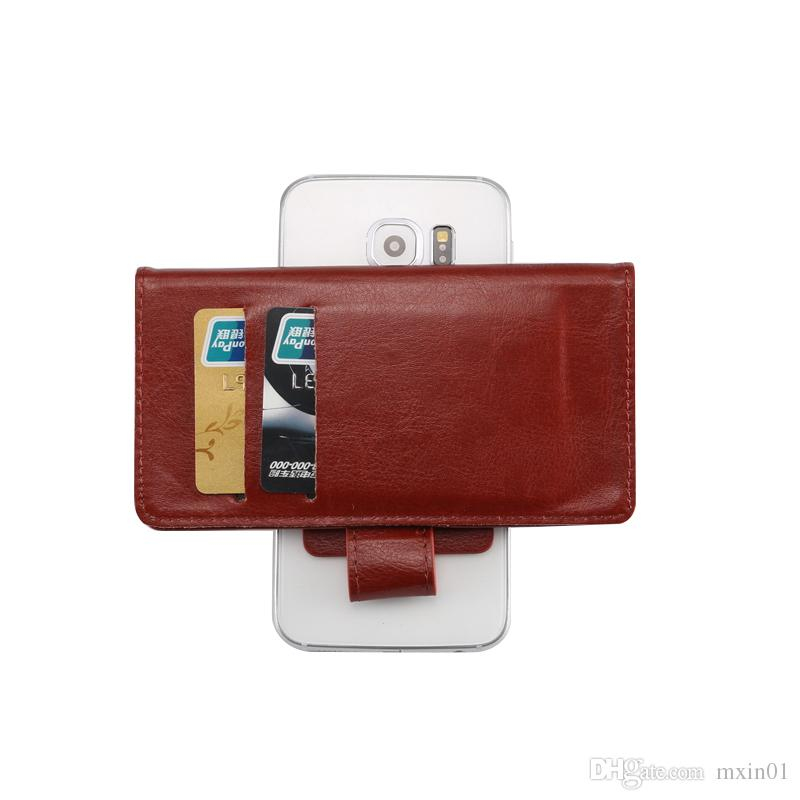 Universal Crazy Horse 360 Rotating Phone Wallet PU Funda de cuero con tapa para 3.8 iPhone de 6.3 pulgadas Samsung LG HTC Nokia Sony Huawei XiaoMi Alcatel