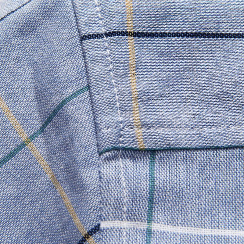 Coton Slim Fit 5XL Hommes Chemises 2017 Nouveaux Hommes Chemise À Manches Courtes Haute Qualité Casual Plaid Hommes Robe Chemises Camisa Masculina