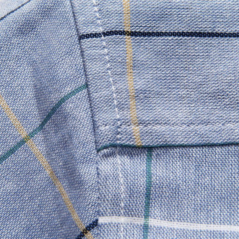 Хлопок Slim Fit 5XL Мужские рубашки 2017 новых мужчин с коротким рукавом рубашки высокого качества повседневная плед Мужские рубашки Camisa Masculina